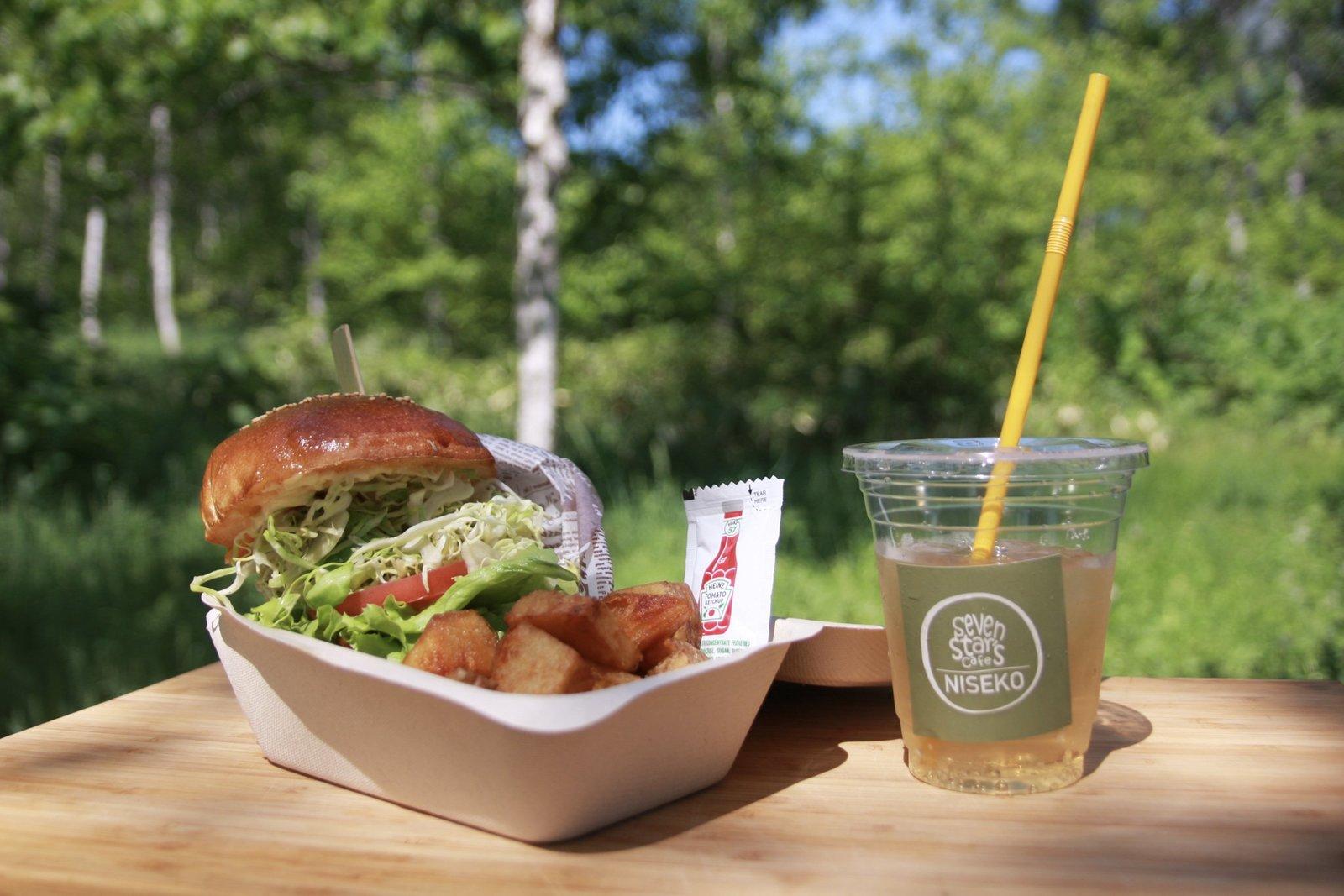 Seven Star's Cafe Burger set