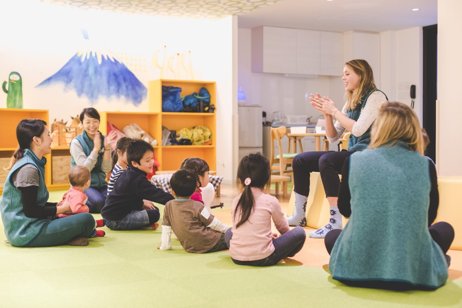 Children having fun at Niseko Kids Club