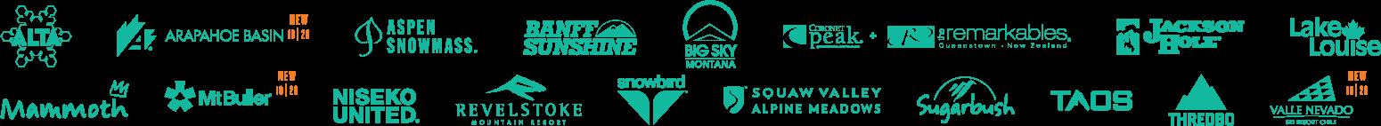 2019-20 Mountain Collective Members Logos