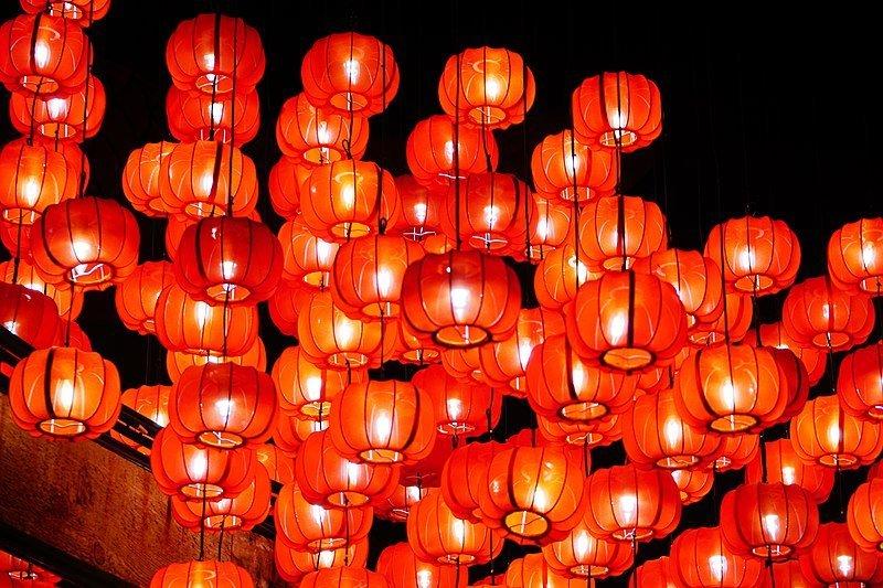 在日本也能享受農曆新年 燈籠 紅色 中國 中華