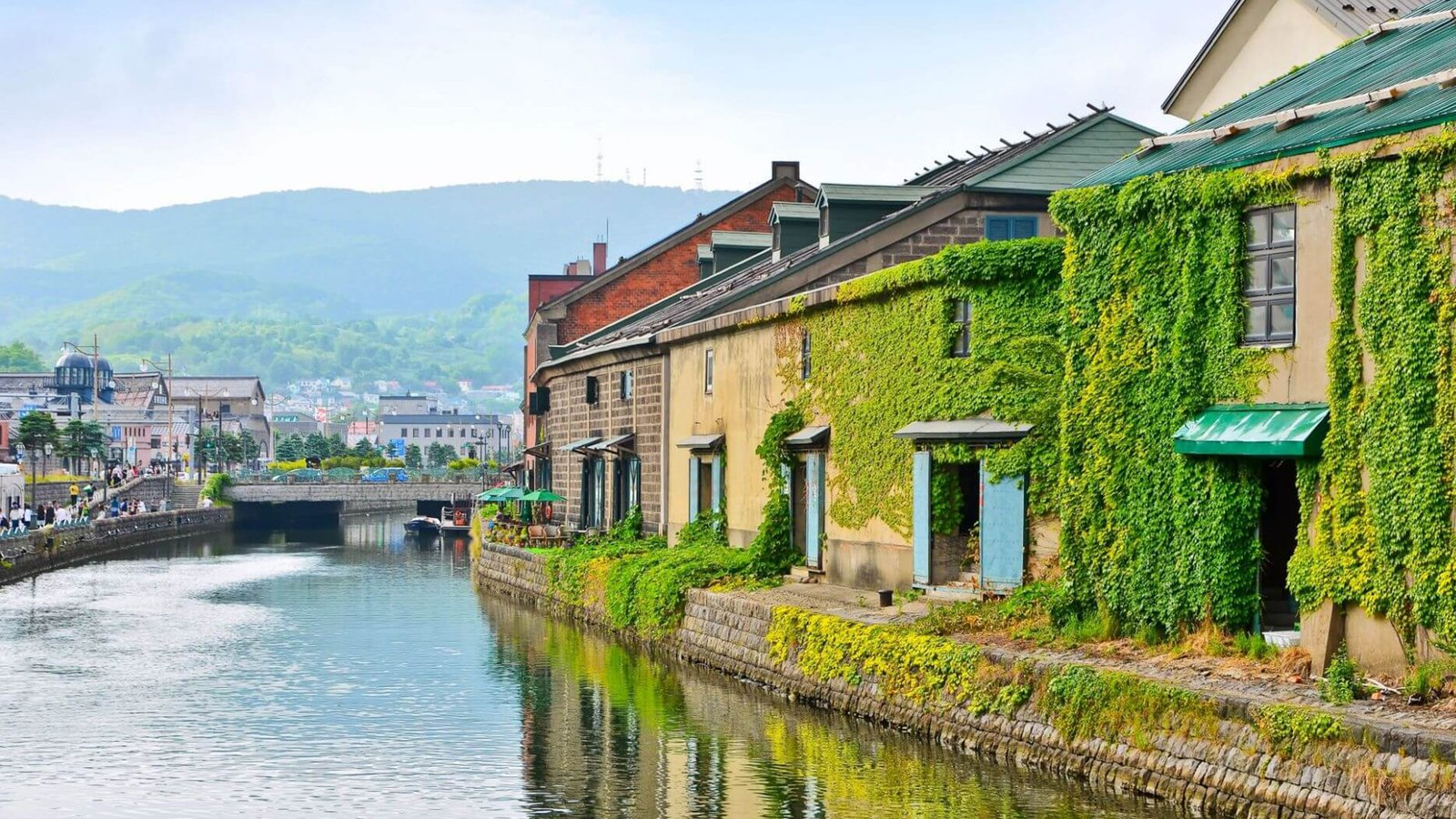 Otaru Canal and old brick wearhouses, Hokkaido Japan