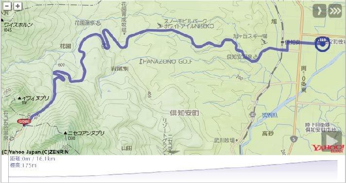 2018年HANAZONOヒルクライムのレースコース地図