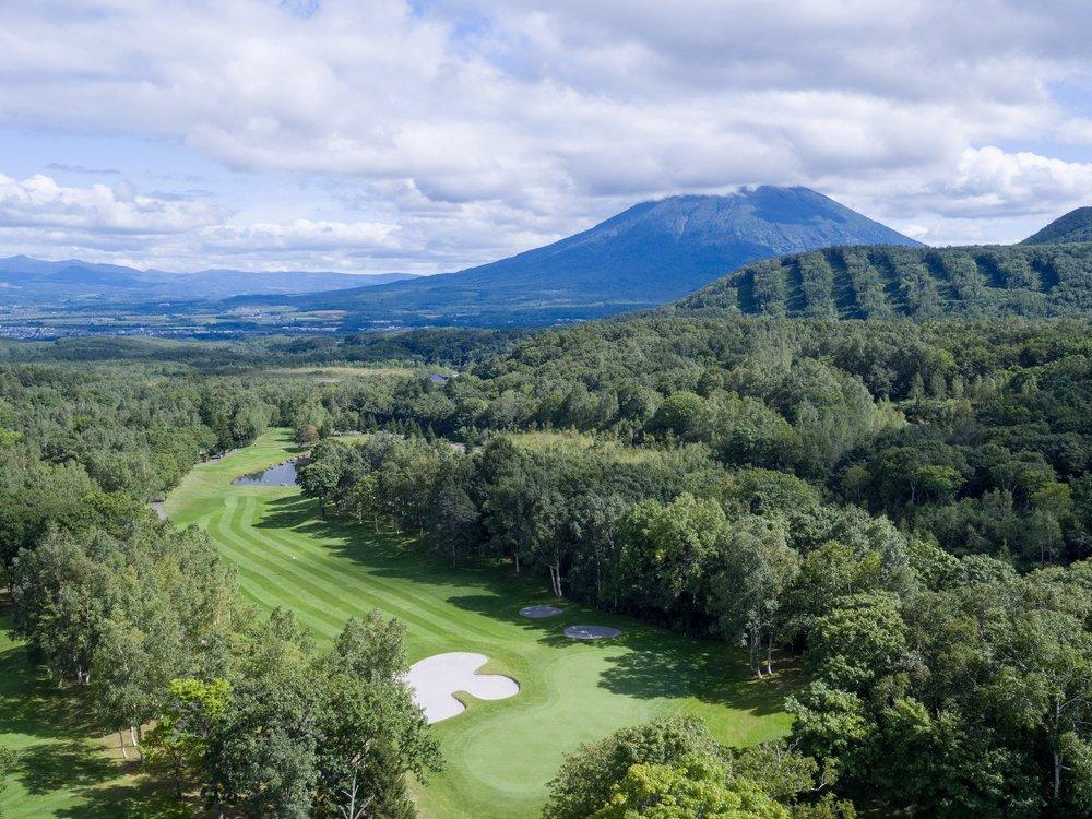 2018年ニセコプロアマゴルフ大会会場となるニセコハナゾノゴルフ場