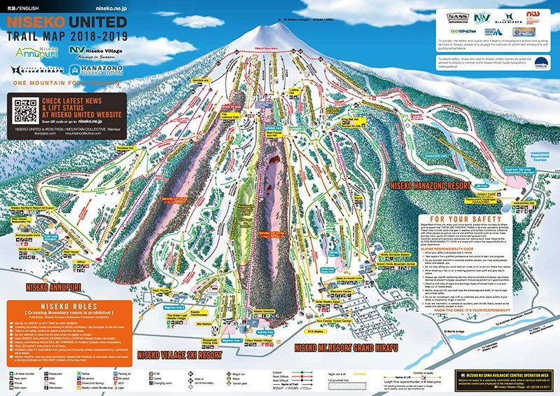 Niseko Trail Map 2019