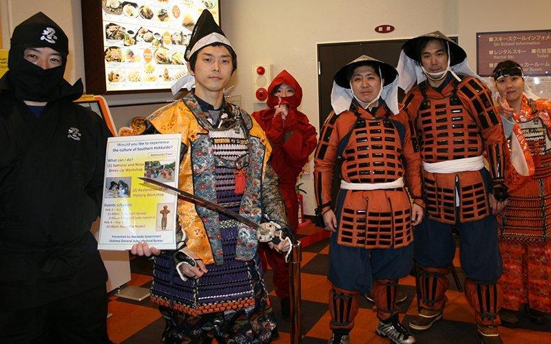 samurai at Hanazono Niseko