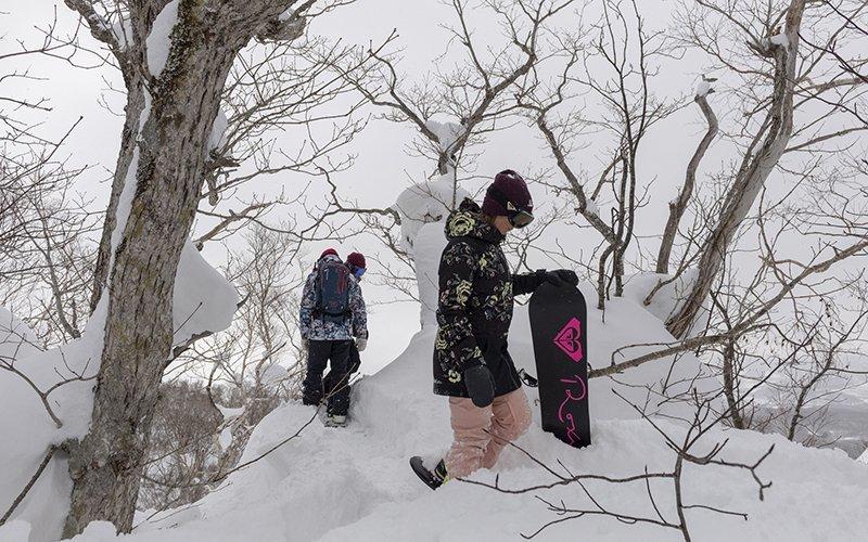 roxy snowboards at hanazono niseko