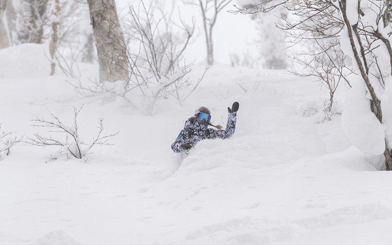robin van gyn roxy snowboards niseko japan