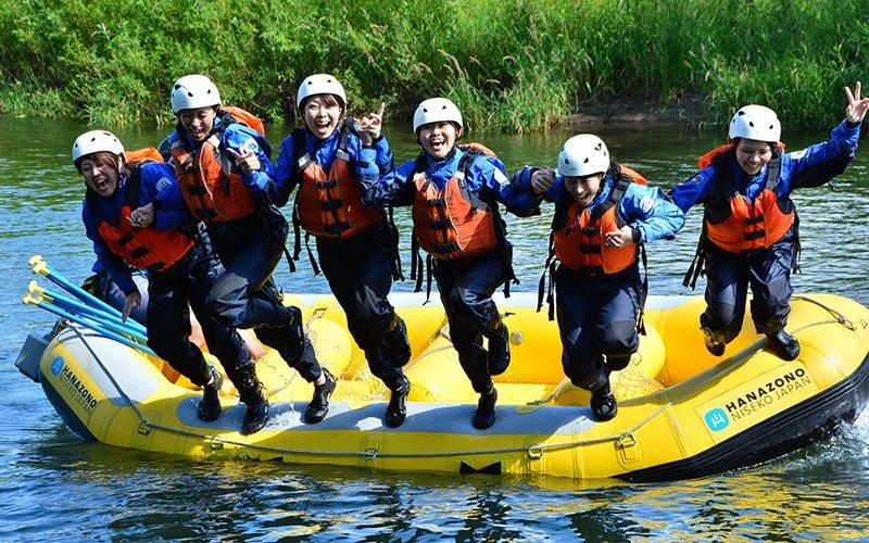 hanazono niseko rafting shiribetsu river