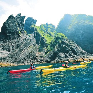 Hanazono sea kayaking canyoning open small