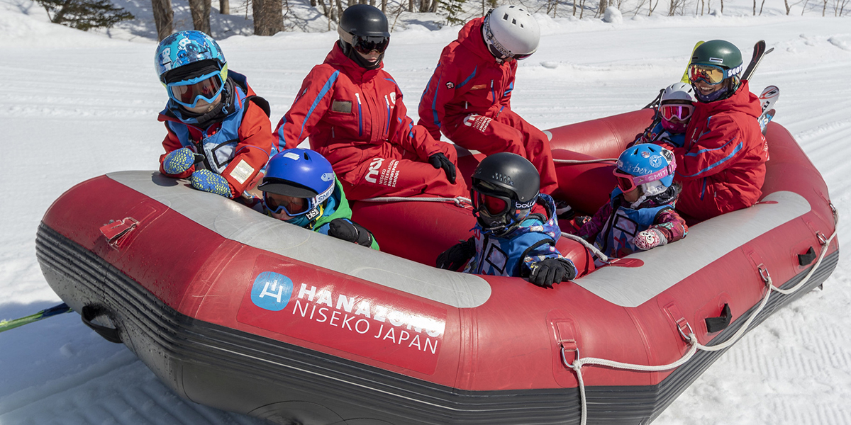 Snow Rafting is a new activity available in Hanazono Winter 19 20