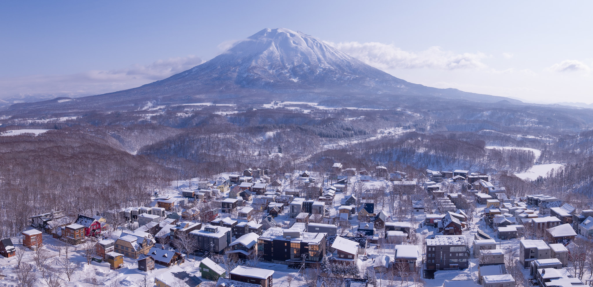 Lower Hirafu village in Niseko, Japan.