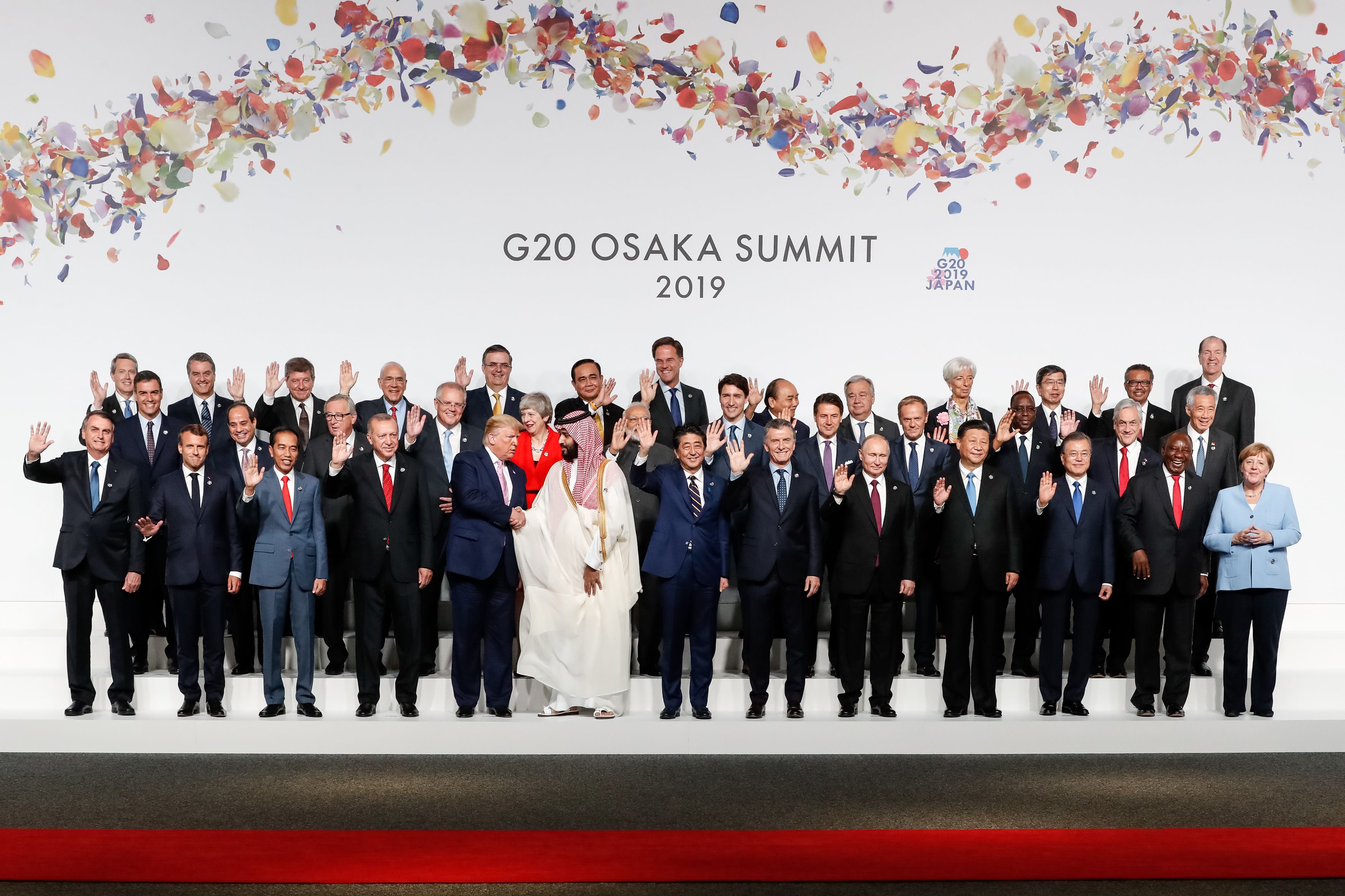 The members of the 2019 G20 summit in Osaka, Japan.