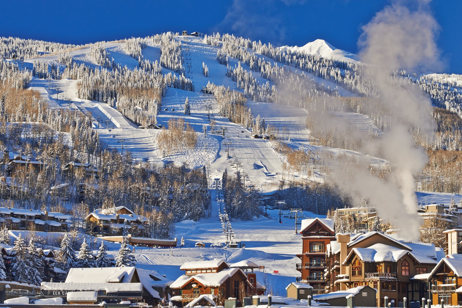 Aspen Snowmass ski area and village in Colorado, USA