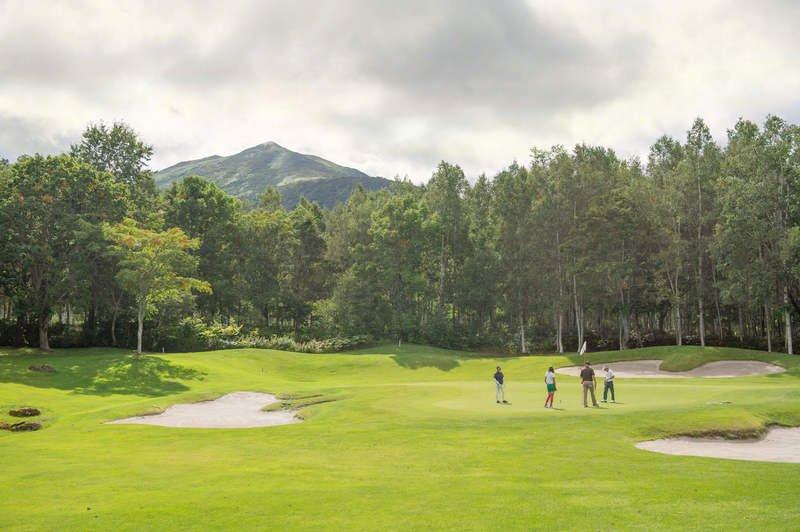 Photoshopped autumn niseko golf medium